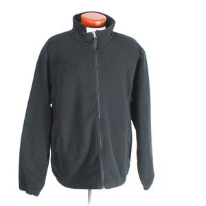 Cabela's Black Fleece Full Zip Jacket Sz XL Tall